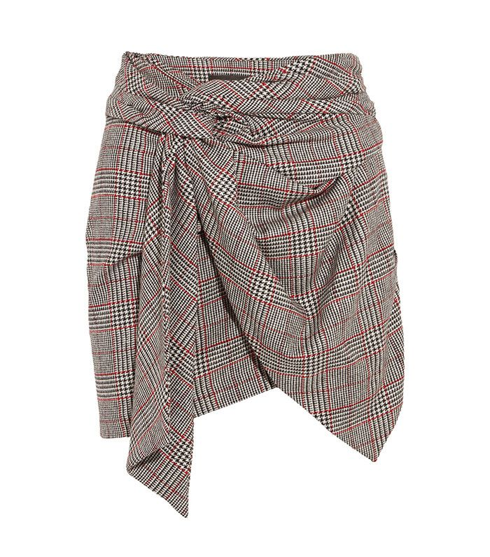 Kim Wrap-Effect Tweed Mini Skirt by Isabel Marant
