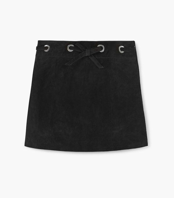 Appliqué Suede Skirt by Mango