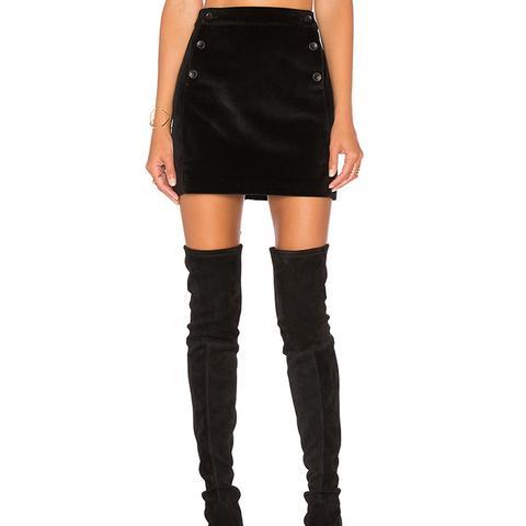 Brushed Velvet Skirt