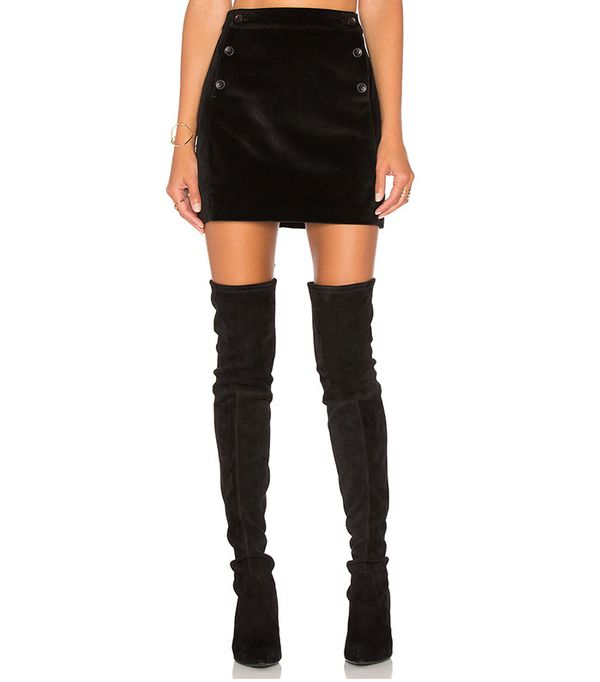 Brushed Velvet Skirt by Greylin Thompson
