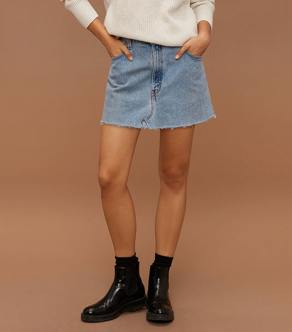 Vintage Denim Skirt by Vintage