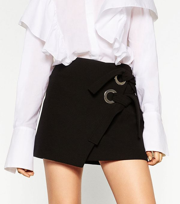 Miniskirt with Bows by Zara