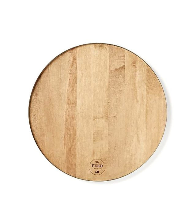 Feed Round Wood + Steel Cutting Board