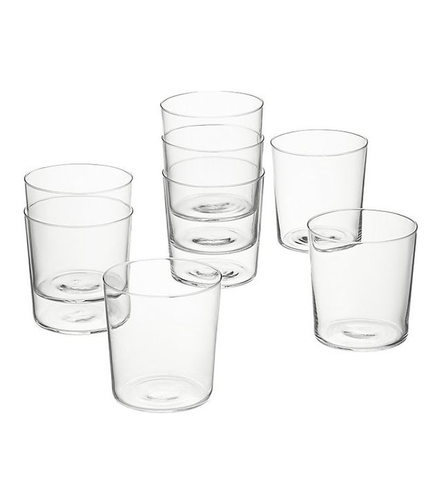 CB2 Set of 8 Marta Double Old-Fashioned Glasses