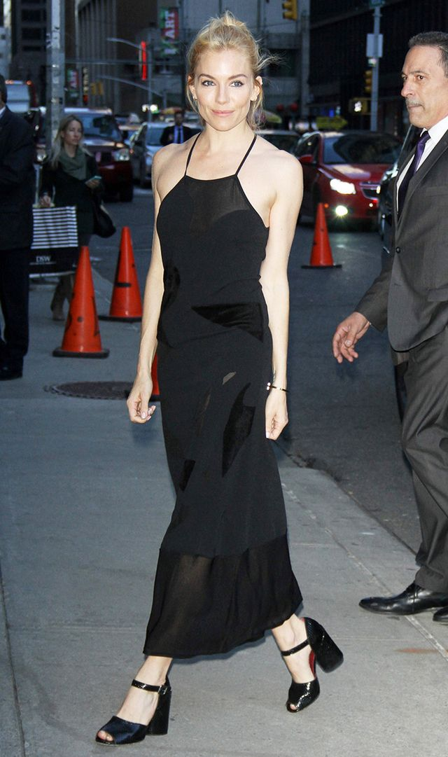Sienna Miller at The Late Show
