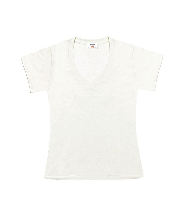 Re/Done | Hanes The Slim 1960s V-Neck Tee