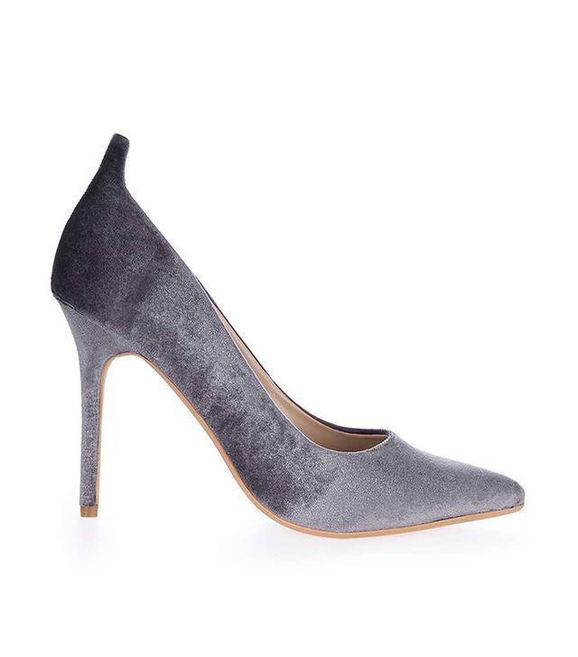 Topshop Gardenia Velvet Court Shoes