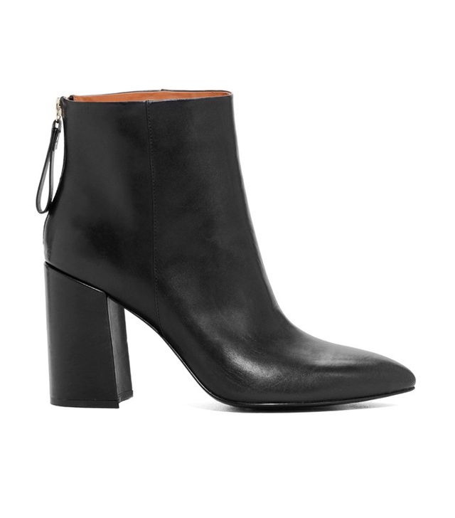 & Other Stories Diamond Flared Heel Leather Boots