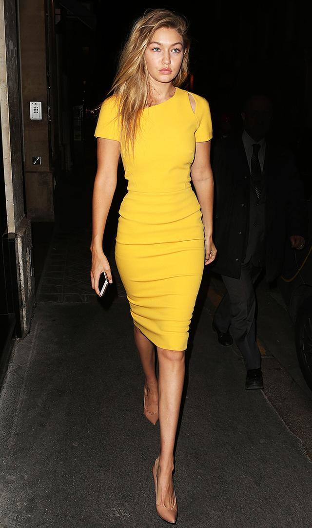 gigi-hadid-yellow-dress