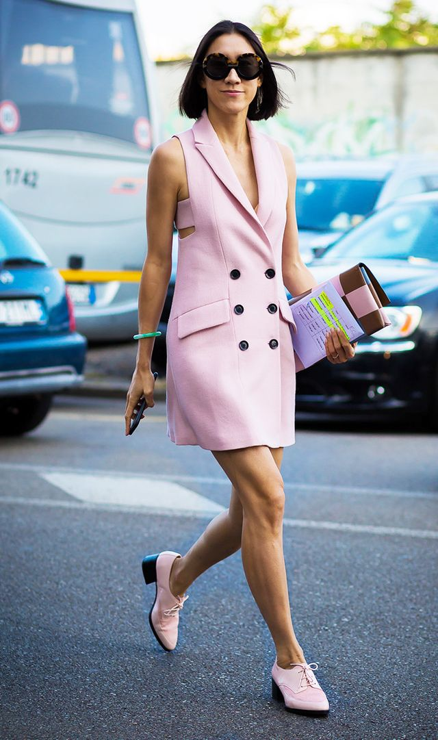 Eva Chen wearing pink
