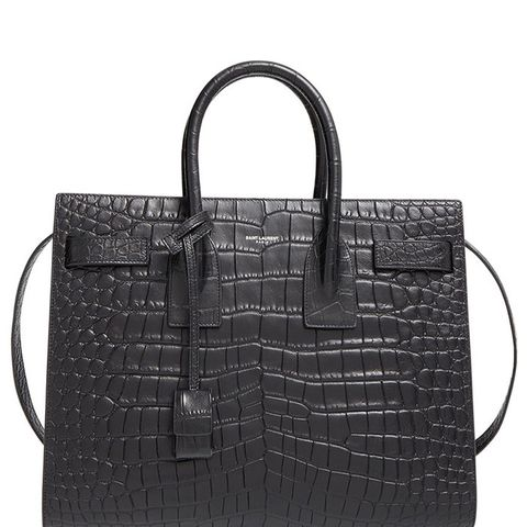 Small Sac de Jour Croc Embossed Leather Tote