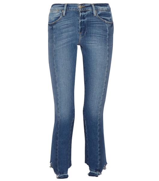 Frame Le High Mix Straight-Leg Jeans
