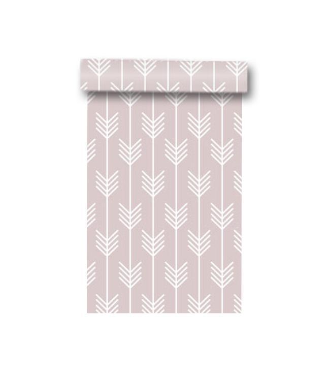 WallPlays Pink Arrows Removable Wallpaper