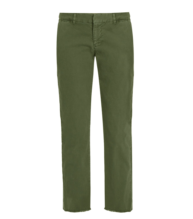 Nili Lotan East Hampton Mid-rise Cotton-blend Chino Trousers