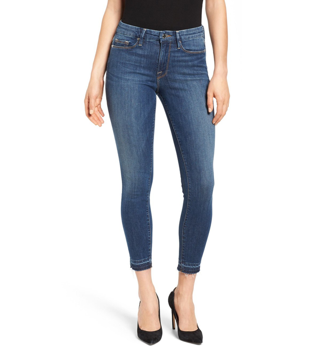 Good American Good Legs Crop Released Hem Skinny Jeans