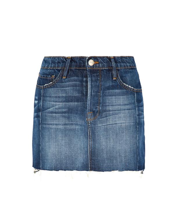 Frame Le Mini Mix Denim Skirt
