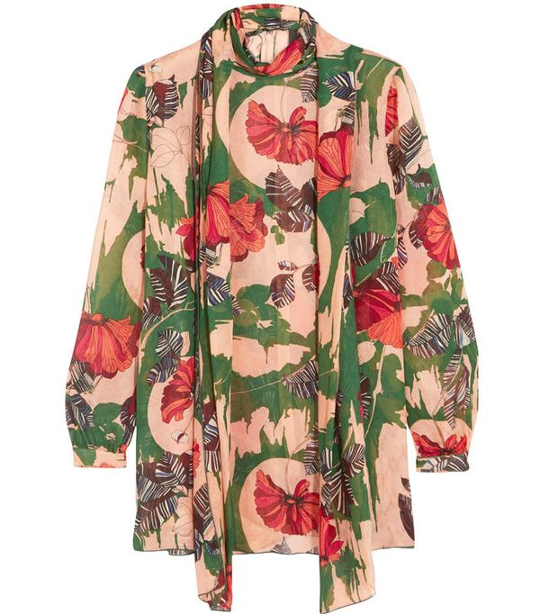 Anna Sui Woodstock Pussy-Bow Blouse