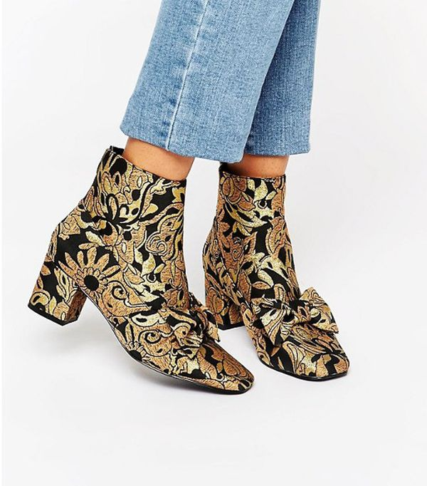 ASOS Ryala Bow Ankle Boots