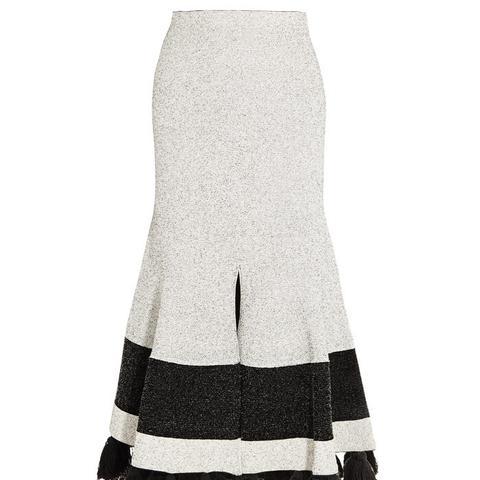 Tasseled Midi Skirt