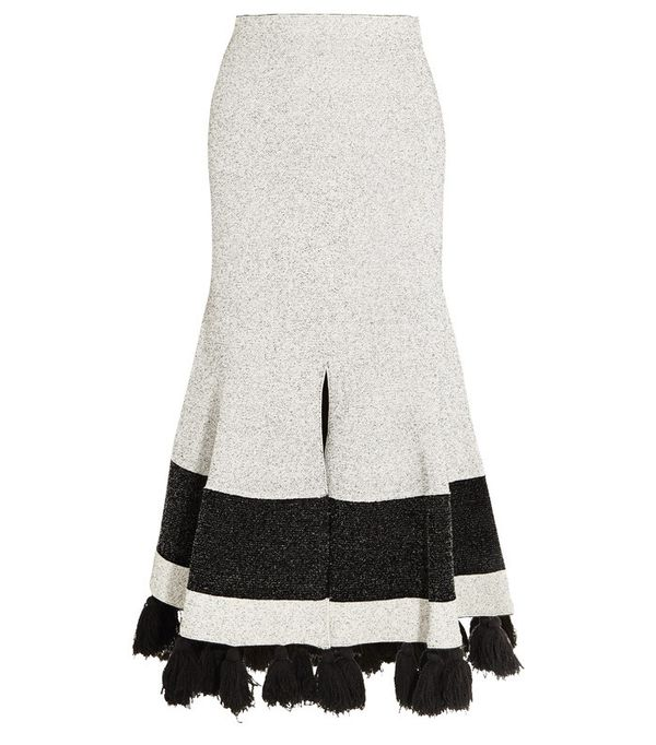 Proenza Schouler Tasseled Midi Skirt