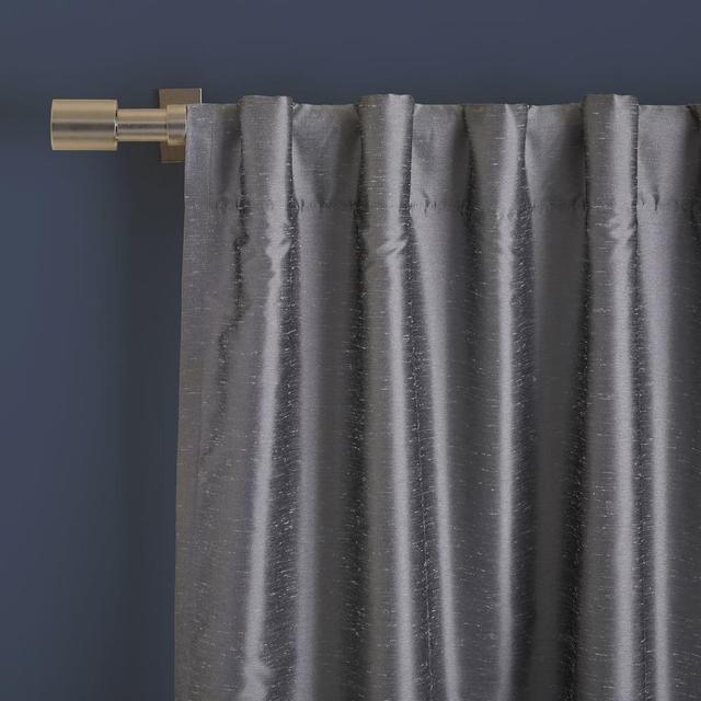West Elm Greenwich Curtain + Blackout Liner - Platinum