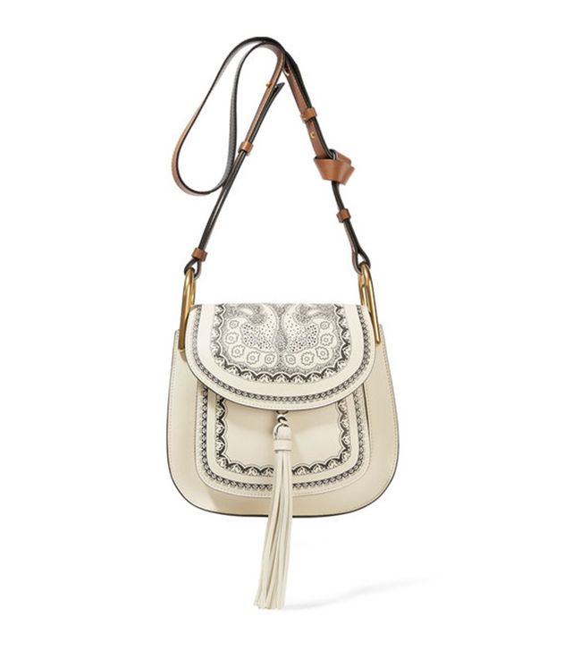 Chloé Hudson Embossed Textured-Leather Hobo Bag