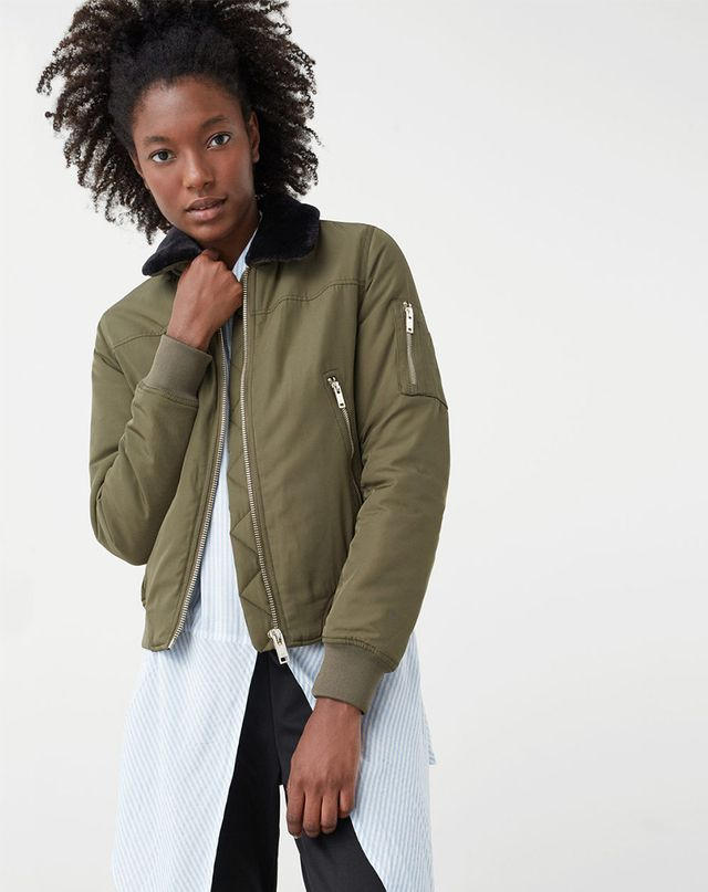 H&M Satin Bomber Jacket