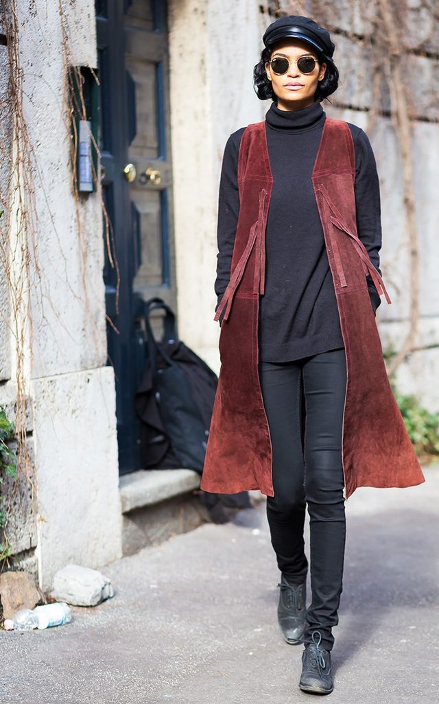 Try styling your jeans with flats like this: