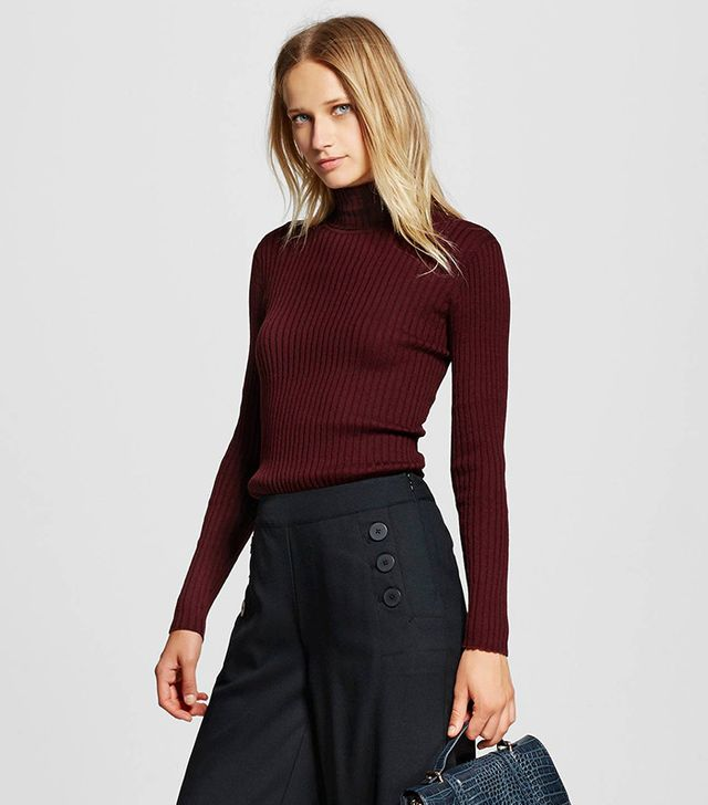 Who What Wear Women's Rib Turtleneck