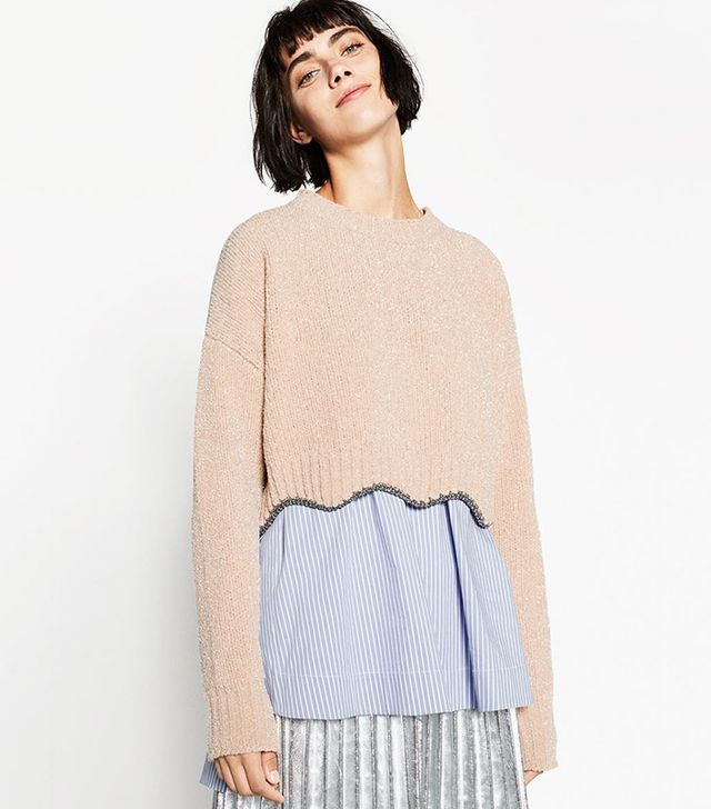 Zara Shiny Cropped Sweater