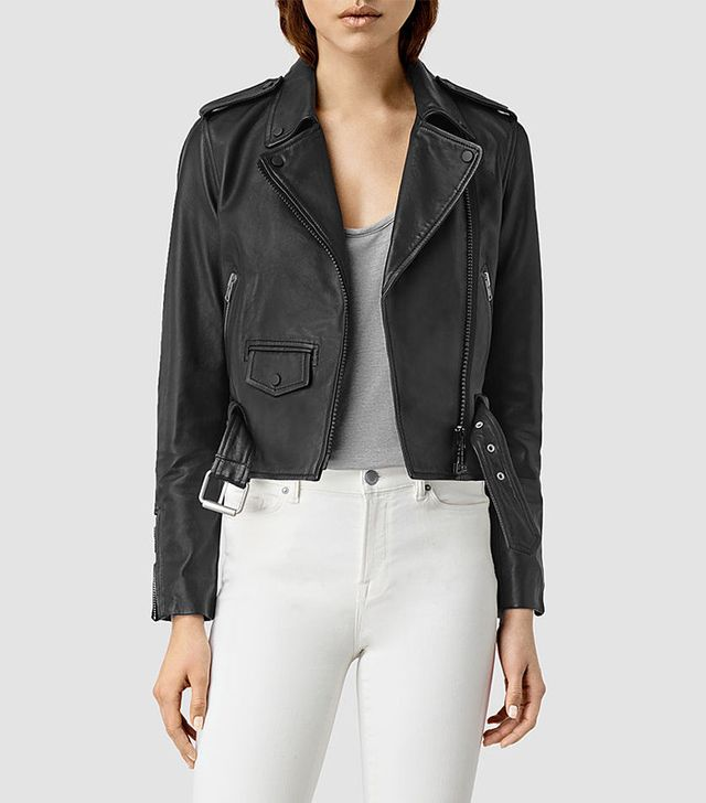 All Saints Baron Leather Biker Jacket