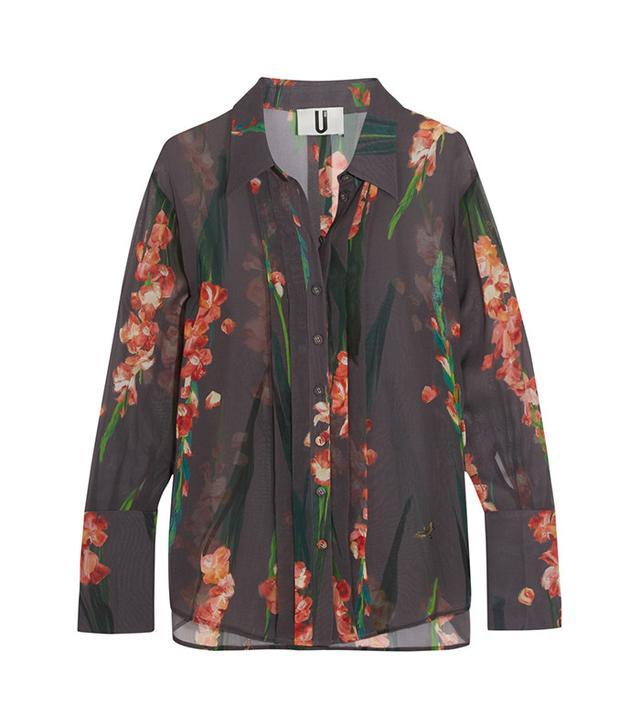 Topshop Unique Selwyn Floral-Print Shirt