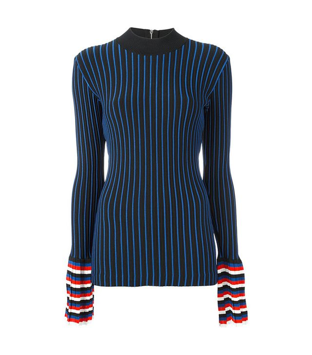 Emilio Pucci Ribbed Contrast Sleeve Sweatshirt