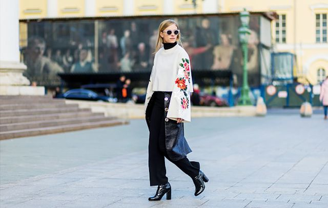 Turtleneck and top street style