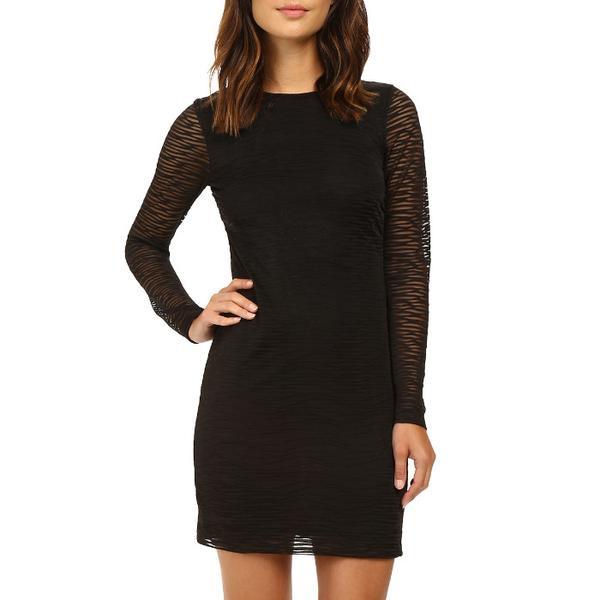 Nicole Miller Burnout Jersey Long Sleeve Dress