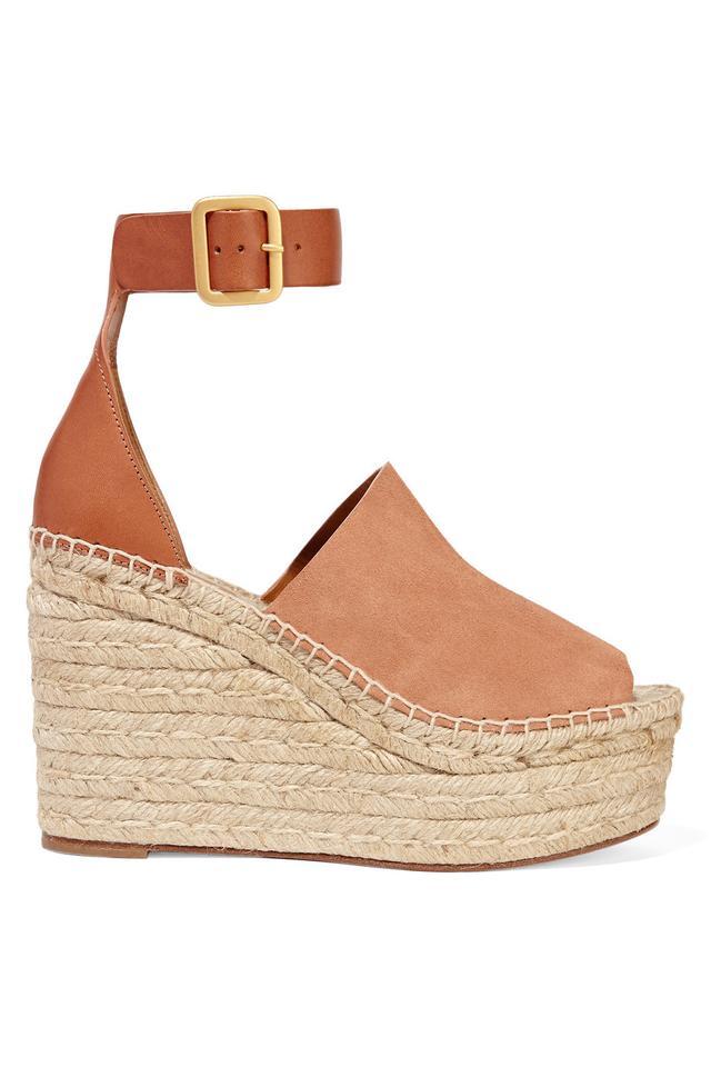 Chloé Espadrille Wedge Sandals