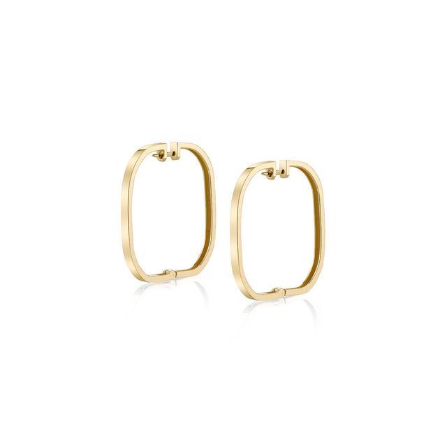 Rashida Jones x Iconery Large Square Hoop Earrings