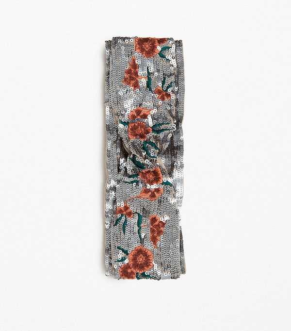 Zara Embroidered and Sequined Hairband