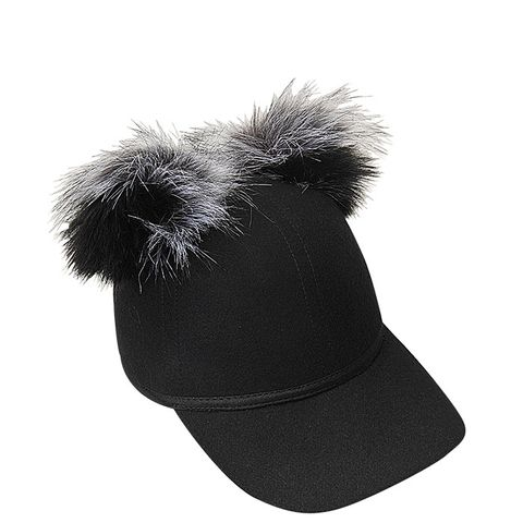 Sass Single Faux Fur Pom Cap