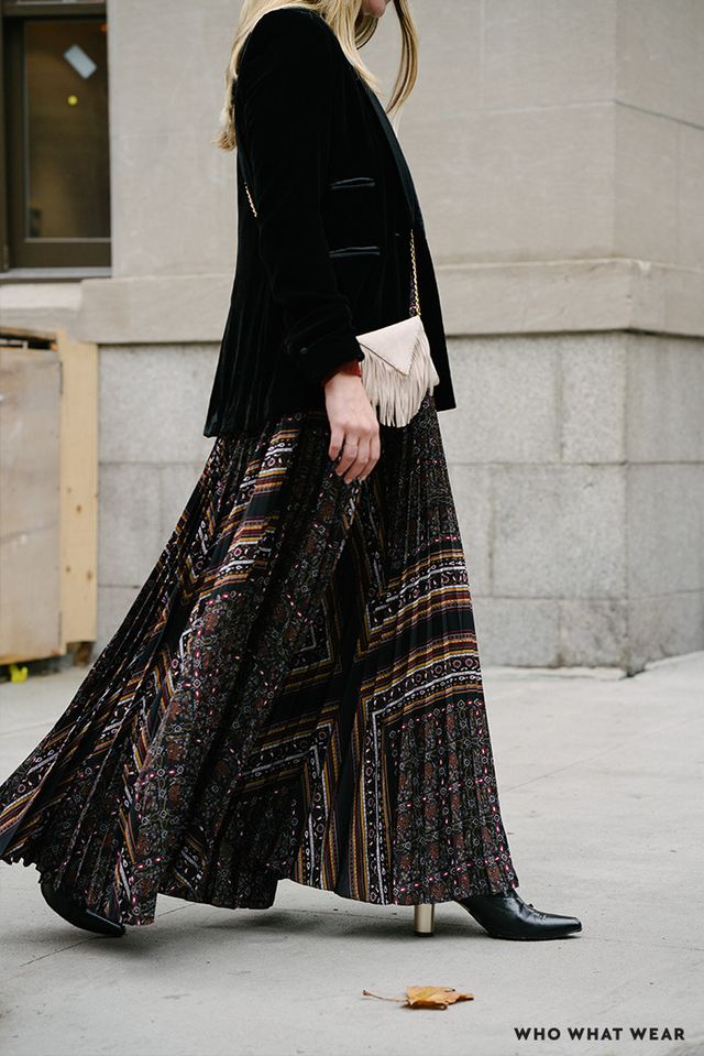 Hot tip: If you want to make an impact, look no further than a pleated maxi dress.