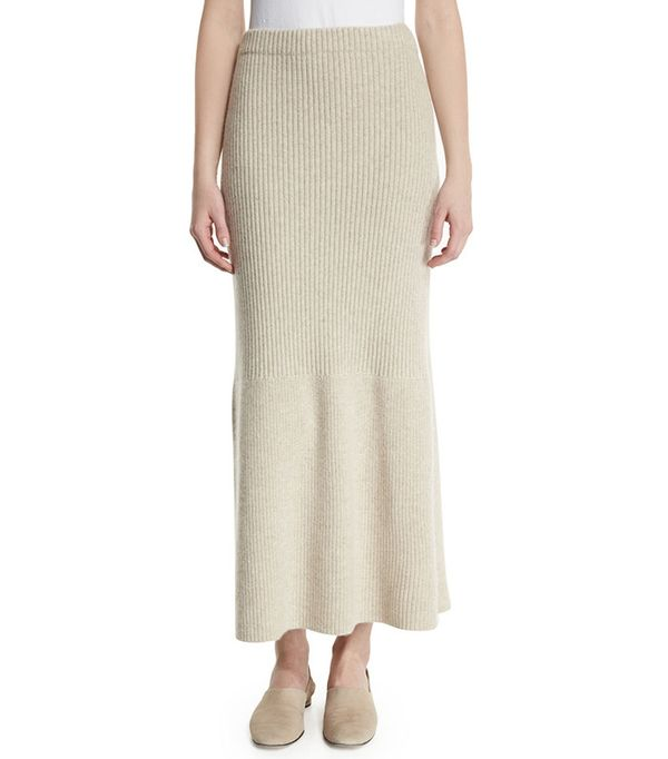 The Row Skaton High-Waist Cashmere Maxi Skirt