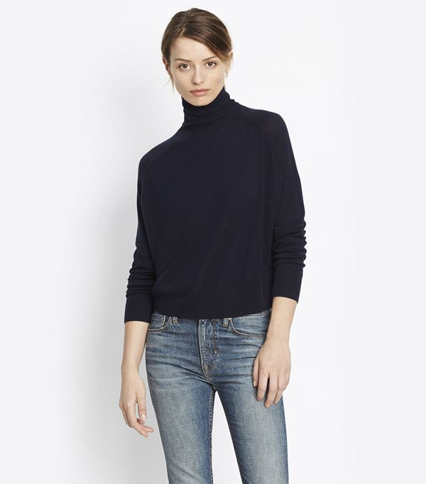 Vince Cashmere Drop Shoulder Turtleneck