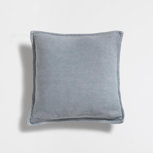 Zara Home Sea Green Faded Linen Cushion