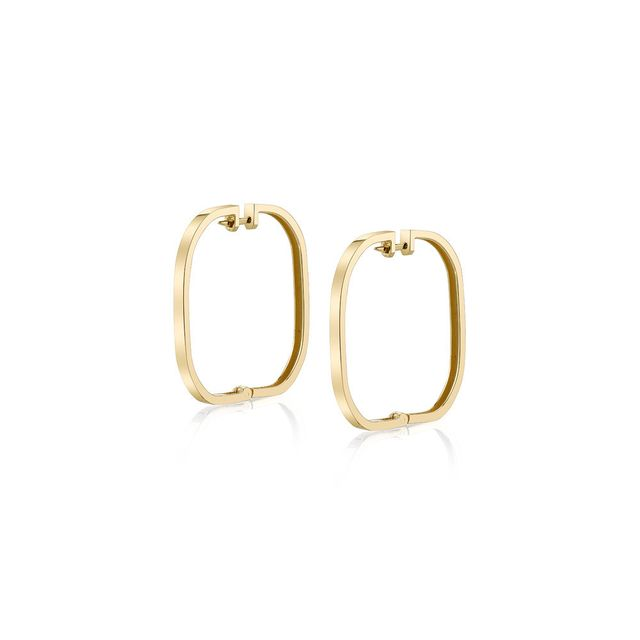 Rashida Jones x Iconery Large Square Hoop Earrings