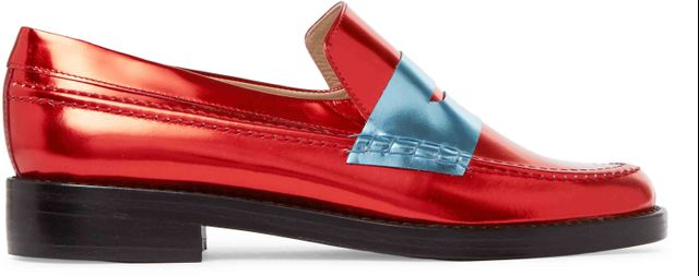 MR by Man Repeller The Alternative to Bare Feet Metallic Leather Loafers
