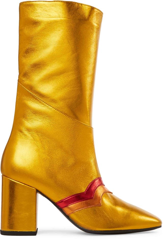 MR by Man Repeller I'm Here to Party Metallic Leather Boots