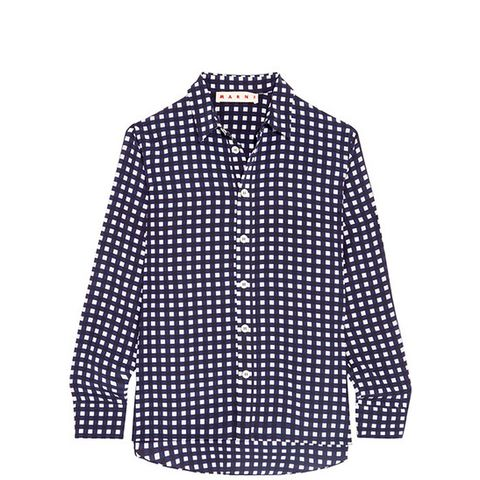 Checked Silk Shirt