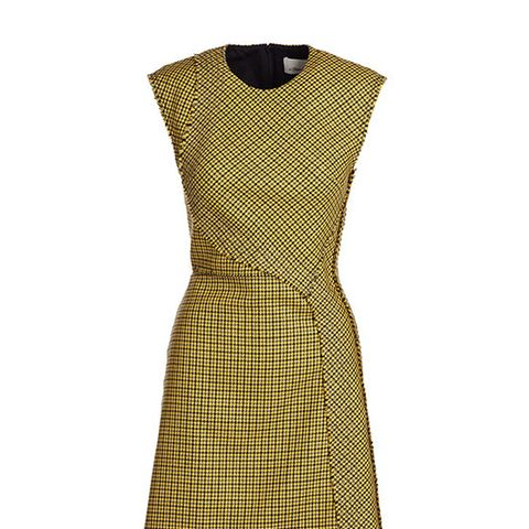 Sleeveless Plaid Dress