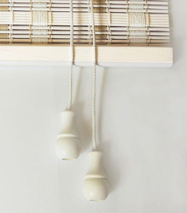 Home Decorators Collection White Washed Bamboo Roman Shade