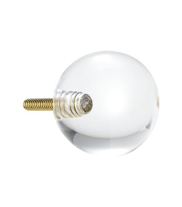 CB2 Acrylic Clear Sphere Knob